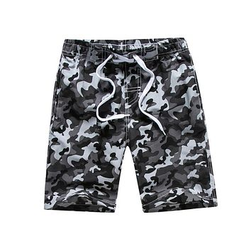 Boys Summer Shorts Quick Dry Swim Trunks Boys Camouflage Beach Shorts Children's Surf Pants Kids Boardshorts