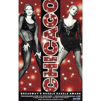Chicago 11x17 Broadway Show Poster
