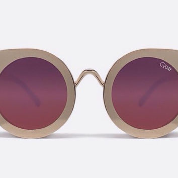 Quay Tainted Love Gold Sunglasses