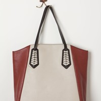 Colorblocked Arrowhead Tote
