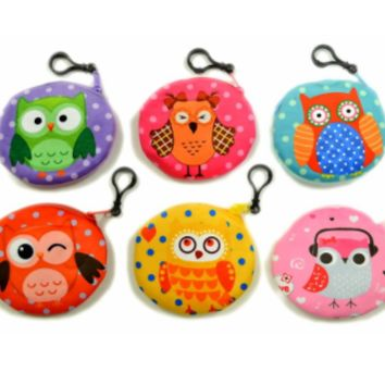 Owl Coin Purse With Clip