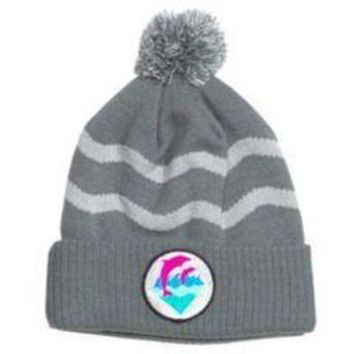 ONETOW Pink Dolphin Beanie Hat