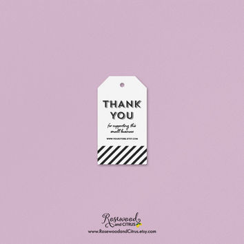 Thank You Tags, Personalized Product Tags, Handmade Tags, Thank You For Supporting This Small Business Tags, Favor Tags, Store Tags