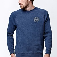 Brixton Oath Crew Fleece - Mens Hoodie - Washed Navy