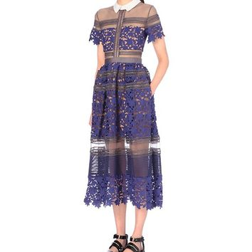 SELF-PORTRAIT - Liliana embroidered dress | Selfridges.com