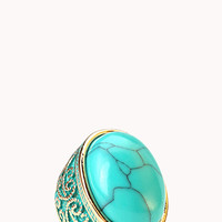 Cocktail Hour Faux Turquoise Ring