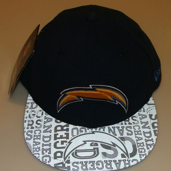 New Era Hat Cap NFL Football San Diego Chargers 7 1/4 59fifty 2014 Draft Fitted