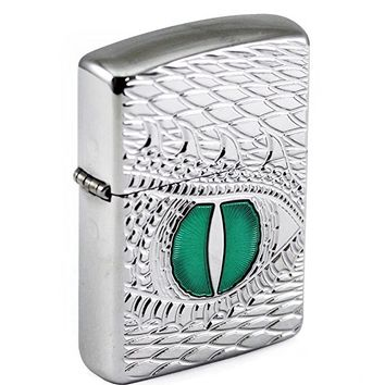 Armor Heavy Mother of Dragons Zippo Outdoor Indoor Windproof Lighter Free Custom Personalized Engraved Message Permanent Lifetime Engraving on Backside