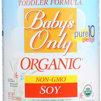 BABY'S ONLY: Organic Soy Toddler Formula Iron Fortified, 12.7 Oz