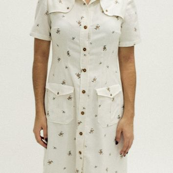 Collared Button Up Dress