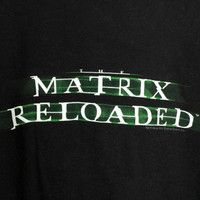 matrix reloaded shirt // original movie tee