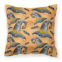 Watecolor Halloween Witches Hat Fabric Decorative Pillow BB7523PW1818