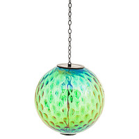 "8"" Solar Gazing Ball, Iridescent Green"