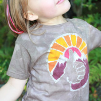 Batik Trucking to the Mountains T Shirt- size 2T