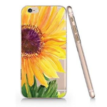 Sunflower Slim Pattern Iphone 6 Case, Clear Iphone 6 Hard Cover Case (For Apple Iphone 6 4.7 Inch Screen)-Emerishop (AH802)