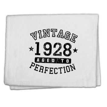 "90th Birthday Vintage Birth Year 1928 11""x18"" Dish Fingertip Towel by TooLoud"