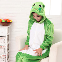 Cartoons Sleepwear Frog Animal Lovely Couple Home Set Halloween Costume [9220986180]