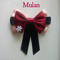 Mulan Inspired Disney Hair Bow