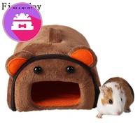 Fine joy Cute Pet House Kennel Cat Dog Hamster Guinea pigs Beds Sofas Cartoon Type Removable Cover Pets Bed For Little Pets