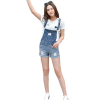 Women's Fashion Patch/Pocket Overall Shorts