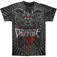 Bullet For My Valentine Men's  Demon Allover T-shirt Black