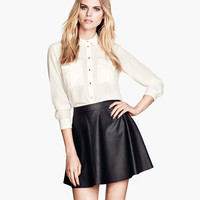 Black Pu Leather Mini Skirts