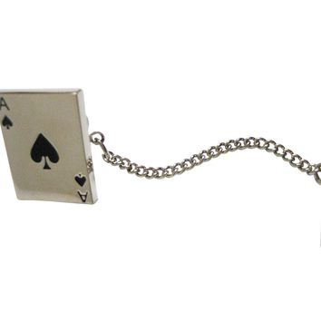 Shiny Ace of Spades Tie Tack