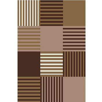 Narcisa Checker Cube Pattern Power-Loomed Area Rug