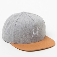 HUF Wool Script Strapback Hat - Mens Backpack - Grey - One