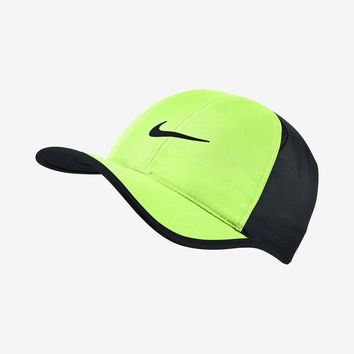 Nike Adult DF Featherlight Tennis Cap Ghost Green/Black 679421-367 FREE SHIPPING