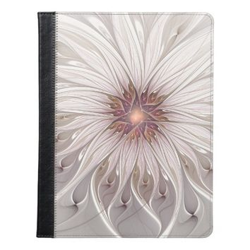 Floral Fantasy, Abstract Modern Pastel Flower iPad Case