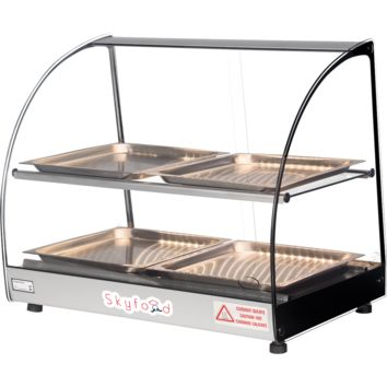Commercial Countertop Food Warmer Display Case 23""