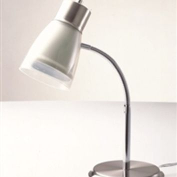 Gooseneck College Desk Lamp - White