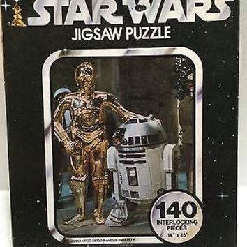(TAS005294) - 140 Interlocking Piece Star Wars Jigsaw Puzzle - C-3P0 & R2D2