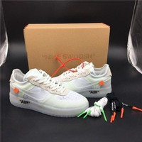 ONETOW Off White for Nike Air Force White Basketball Shoes 40-46