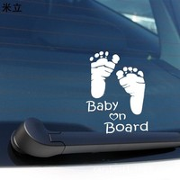 Funny Baby On Board Safty Sign Car Sticker Car/Motorcycle Car Styling Personality Accessories Car-Styling