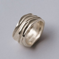 Dune - Palladium Ring , Unisex Ring , Wedding Ring , Wedding band , Mens ring , Mens Band
