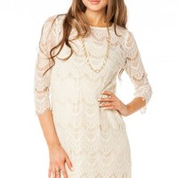 Coco Lace Dress in Natural - ShopSosie.com