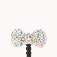 Rhinestoned Bow Phone Charm