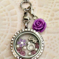 Living locket medium silver stainless for the Bride to be