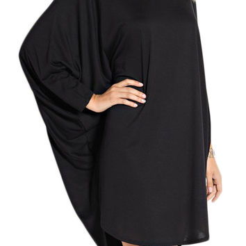 Batwings High Low Dress