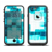 The Vibrant Blue HD Blocks Apple iPhone 6 LifeProof Fre Case Skin Set