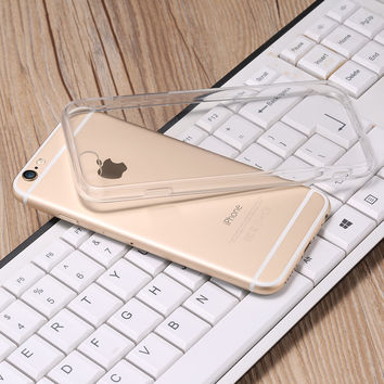 Fashion Ultra Thin Crystal Clear Case For iPhone 7 6S Plus 5S SE Hard Acrylic Back + Soft TPU Frame Phone Cover For iPhone 7 6S