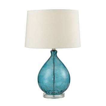 Wayfarer Glass Table Lamp in Teal Teal