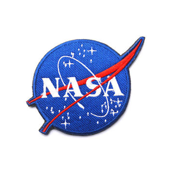NASA Logo Patch Embroidered Space Sew on Iron on Patches Velcro Patch