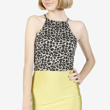 Super Sheen Mini Skirt - Green Tea