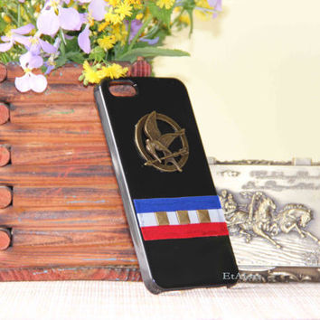 Hunger Games mocking bird mockingjay Rivet iphone 4/4S/5 case punk phone case scratch resistant summer trending mothers fathers day gifts
