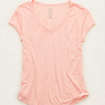 AERIE V-NECK REAL SOFT® TEE