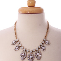 reign or shine necklace - grey