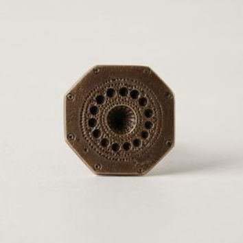 Engraved Chevalier Knob by Anthropologie in Bronze Size: One Size Knobs